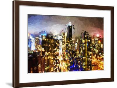 City of Lights - In the Style of Oil Painting-Philippe Hugonnard-Framed Giclee Print