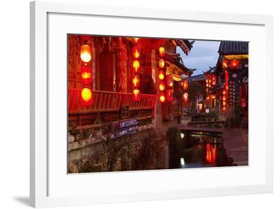 City of Lijiang, UNESCO World Heritage Site, Yunnan, China, Asia-Bruno Morandi-Framed Photographic Print