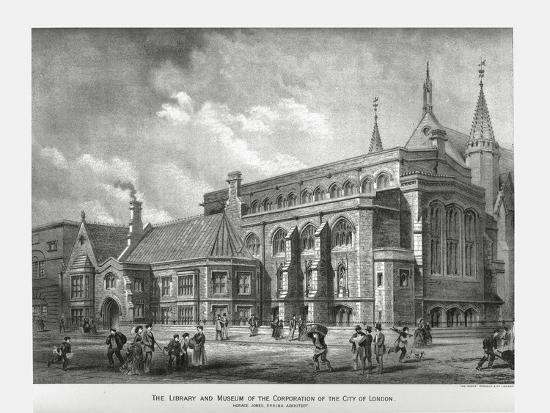 City of London Library and Museum, 1886-Unknown-Giclee Print