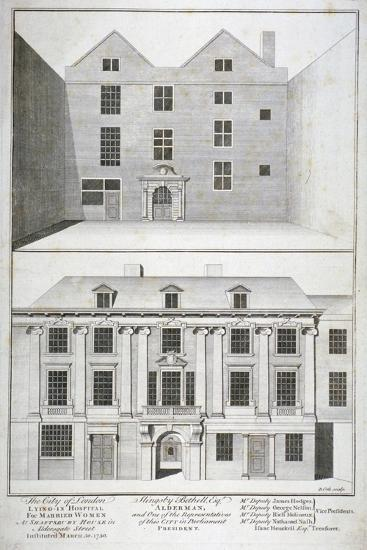 City of London Lying-In Hospital for Married Women, Aldersgate Street, London, C1750-Benjamin Cole-Giclee Print