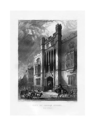 City of London School, London, 19th Century-J Woods-Giclee Print