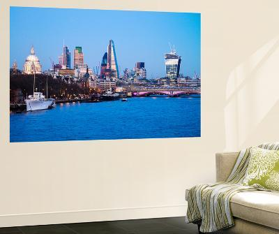City of London Skyline and River Thames at Dusk, England, UK-Nadia Isakova-Wall Mural