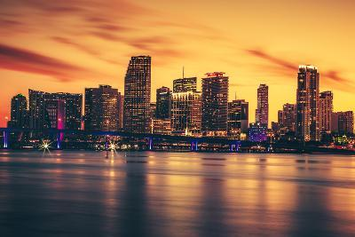 City of Miami at Sunset-prochasson-Photographic Print