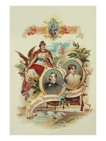 City of Saint Louis Welcomes the National Democratic Convention, 1888- Tracey Printing-Art Print