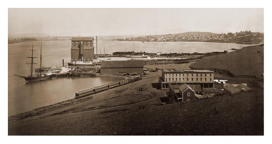 City of Vallejo, California, from South Vallejo, 1870-Carleton Watkins-Art Print