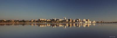 City on a Waterfront, Lake Monona, Madison, Wisconsin, USA--Photographic Print