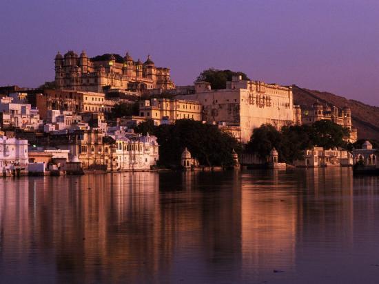 City Palace at Sunset, Udaipur, India-Dan Gair-Photographic Print