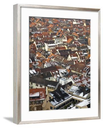 City Rooftops in Winter-Richard l'Anson-Framed Photographic Print