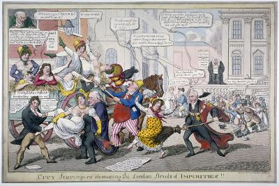 City Scavengers Cleansing the London Streets of Impurities, 1816-C Williams-Giclee Print