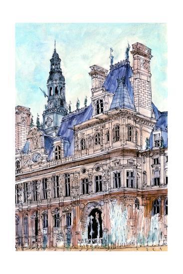 City Scene VIII-Melissa Wang-Art Print
