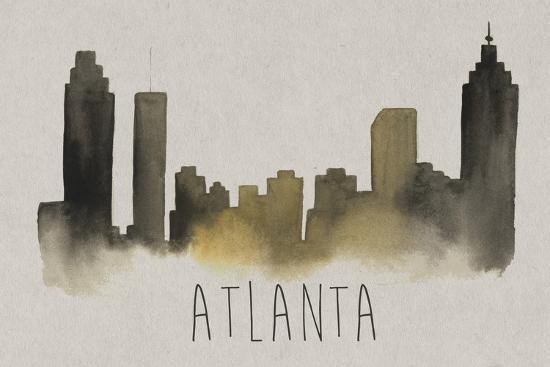 City Silhouettes I-Grace Popp-Art Print