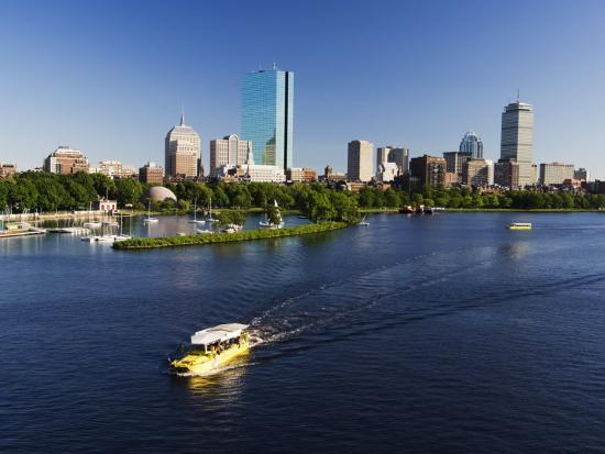 City Skyline Across the Charles River, Boston, Massachusetts, New England, USA-Amanda Hall-Photographic Print