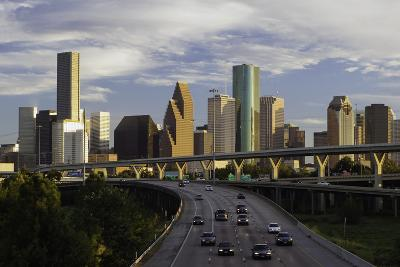 City Skyline and Interstate, Houston, Texas, United States of America, North America-Gavin-Photographic Print