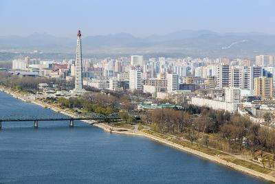 City Skyline and the Juche Tower, Pyongyang, Democratic People's Republic of Korea (DPRK), N. Korea-Gavin Hellier-Photographic Print