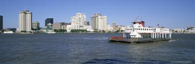 City Skyline and the Mississippi River, New Orleans, Louisiana, United States of America-Gavin Hellier-Photographic Print