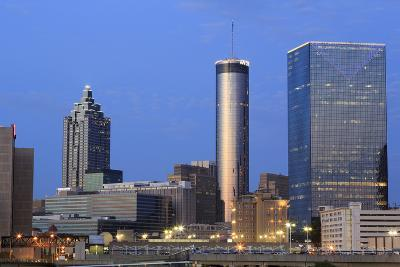 City Skyline at Dusk, Atlanta, Georgia, United States of America, North America-Richard Cummins-Photographic Print