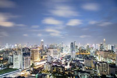City Skyline at Night, Bangkok, Thailand, Southeast Asia, Asia-Alex Robinson-Photographic Print