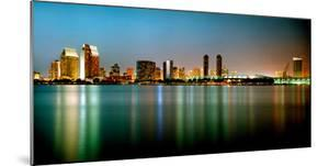 City Skyline at Night, San Diego, California, USA