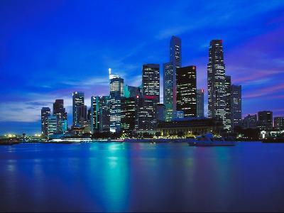 City Skyline at Night--Photographic Print