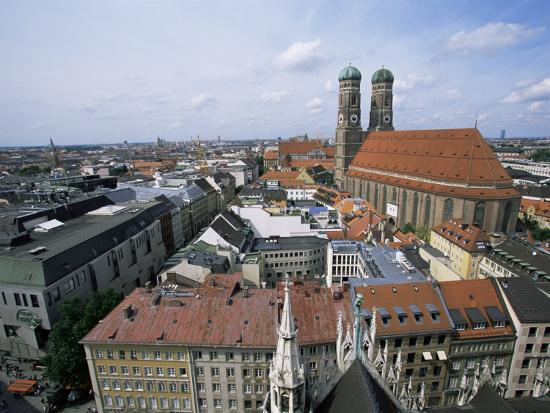 City Skyline Dominated by the Frauenkirche Towers, Munich, Germany-Yadid Levy-Photographic Print