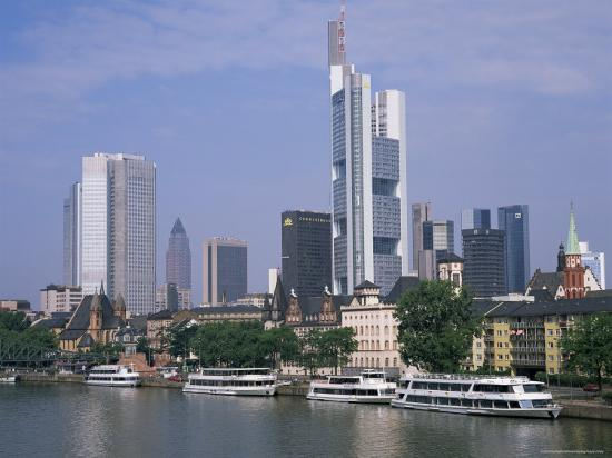 City Skyline, Frankfurt Am Main, Germany-Roy Rainford-Photographic Print