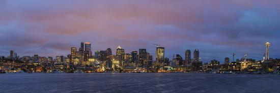 City Skyline from Gasworks Park and Lake Union in Seattle, Washington State, Usa-Chuck Haney-Photographic Print