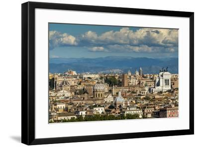City skyline from Gianicolo or Janiculum hill, Rome, Lazio, Italy-Stefano Politi Markovina-Framed Photographic Print