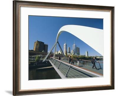 City Skyline from Southgate, Melbourne, Victoria, Australia-Gavin Hellier-Framed Photographic Print