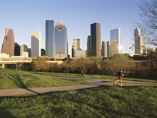 City Skyline, Houston, Texas, USA-Charles Bowman-Photographic Print