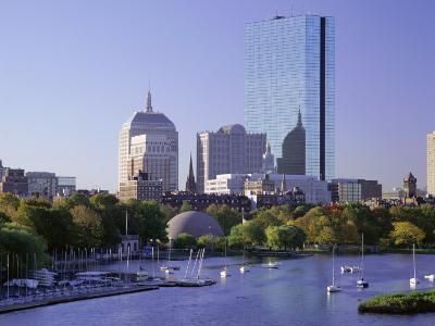 City Skyline in Early Morning, Boston, Massachusetts, New England, USA-Roy Rainford-Photographic Print