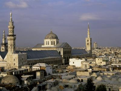 City Skyline Including Omayyad Mosque and Souk, Unesco World Heritage Site, Damascus, Syria-Bruno Morandi-Photographic Print