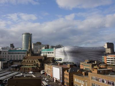 City Skyline, Including Selfridges, Birmingham, England, United Kingdom, Europe-Charles Bowman-Photographic Print