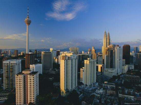 City Skyline Including the Petronas Building, the World's Highest Building, Kuala Lumpur, Malaysia-Gavin Hellier-Photographic Print
