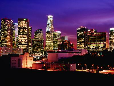 City Skyline, Los Angeles, California-Richard Cummins-Photographic Print