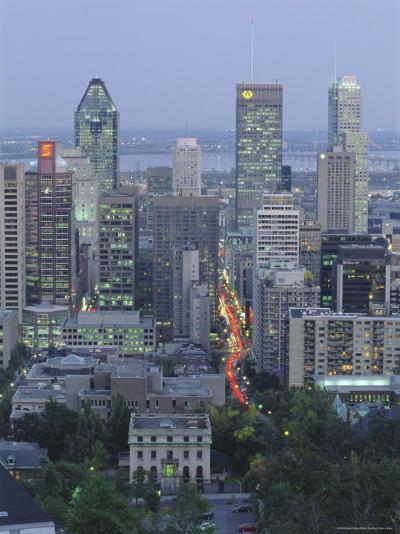 City Skyline, Montreal, Quebec Province, Canada-Gavin Hellier-Photographic Print