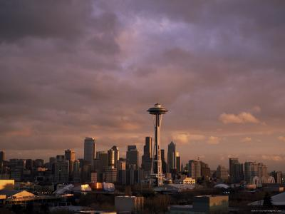 City Skyline, Seattle, Washington State, United States of America (U.S.A.), North America-Aaron McCoy-Photographic Print