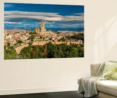 City Skyline, Segovia, Castile and Leon, Spain-Stefano Politi Markovina-Wall Mural