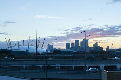 City Skyline Showing the O2 Arena and Canary Wharf London. Uk-David Cabrera-Photo
