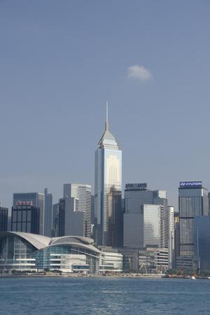 City Skyline View from Victoria Harbor, Hong Kong, China-Cindy Miller Hopkins-Photographic Print