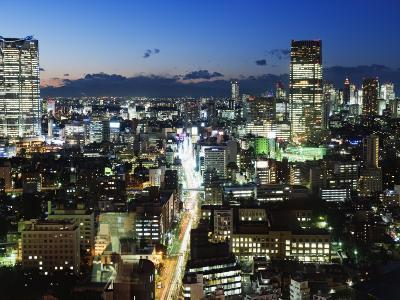 City Skyline View Looking Towards Roppongi from Tokyo Tower, Tokyo, Japan, Asia-Christian Kober-Photographic Print