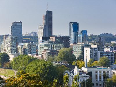 City Skyline, Vilnius, Lithuania-Gavin Hellier-Photographic Print