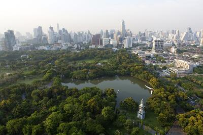 City Skyline with Lumphini Park-Lee Frost-Photographic Print