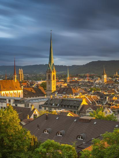 City Skyline, Zurich, Switzerland-Jon Arnold-Photographic Print