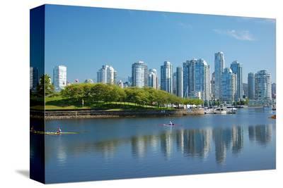 City Skyline--Stretched Canvas Print