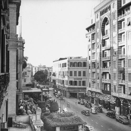 City Street from Room at Shepherd's Hotel-Bob Landry-Photographic Print