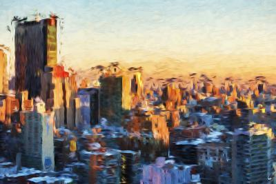City Sunset II - In the Style of Oil Painting-Philippe Hugonnard-Giclee Print