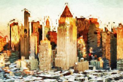 City Sunset - In the Style of Oil Painting-Philippe Hugonnard-Giclee Print