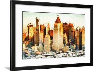 City Sunset - In the Style of Oil Painting-Philippe Hugonnard-Framed Giclee Print