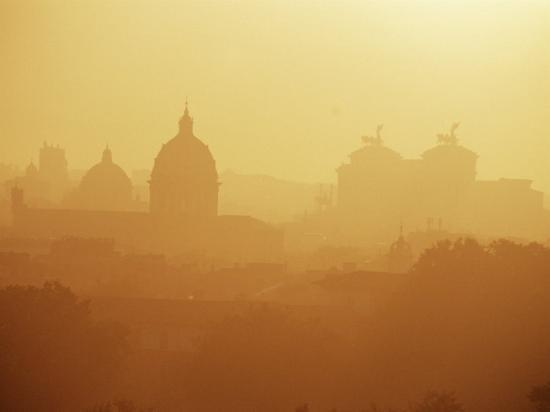City Under Morning Fog, Seen from the Janiculum Hill, Rome, Lazio, Italy-Ken Gillham-Photographic Print