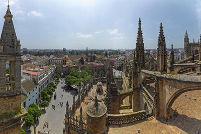 City View from a Cathedral Roof, Seville Cathedral, Seville, Andalusia, Spain--Framed Photographic Print